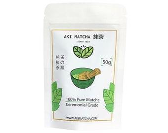 Aki Matcha | Authentic Japanese Organic Matcha Green Tea Powder - Ceremonial Grade 50g