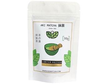 Aki Matcha | Authentic Japanese Organic Matcha - Super Ceremonial Grade Matcha 30g - LIMITED EDITION