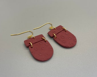 Delicate and neat Quebec ostryer wood earrings