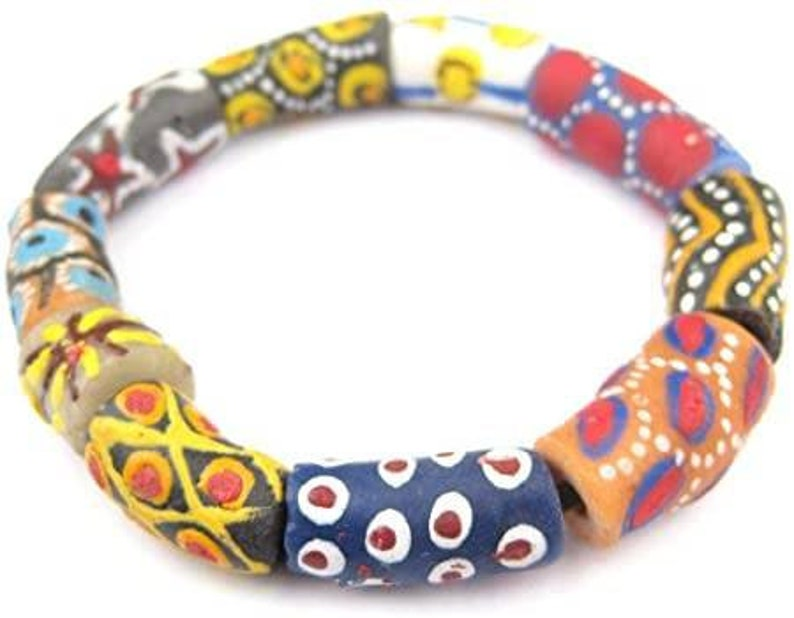 A very beautiful Krobo bead as shown in the pictures.