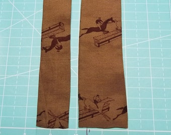 Horse Steeplechase Race silk necktie by ROOSTER