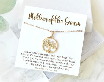 Mother of the Groom Gift Mother of the Bride Gift Mother in Law Gift Wedding gift future mother in law Necklace Gift Family Tree necklace