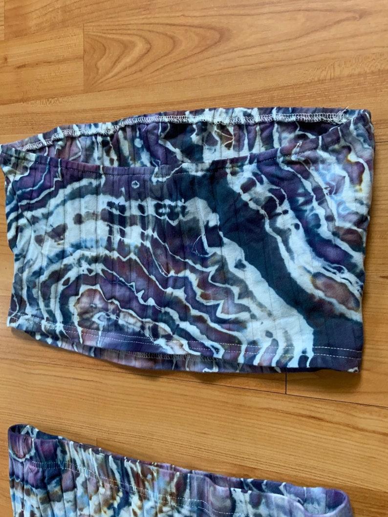 Size Medium Tie Dye Geode Crop Top Skirt Set