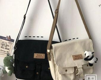 Japanese Harajuku Canvas Windsuit Small Messenger / Shoulder Bag