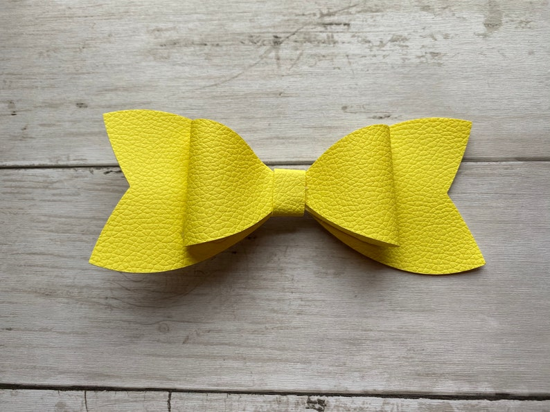 Solid Yellow Hair bow