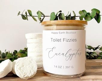 Eucalyptus Toilet Fizzies Toilet Bombs Toilet Cleaner Bathroom Decor Eco-Friendly Sustainable Zero Waste Natural Cleaning