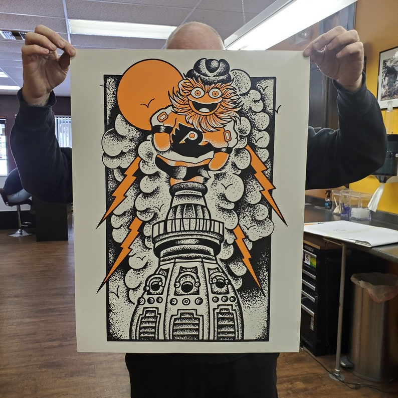 Gritty 2 color art print image 0