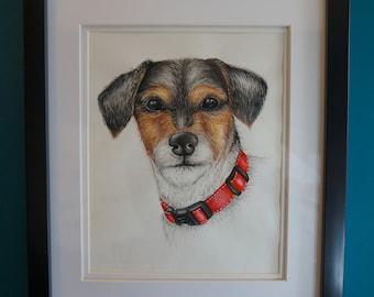 Watercolour Print, Animal Art, Dog, Pet, Colourful Print, Wall Decor, A5 A4 A3