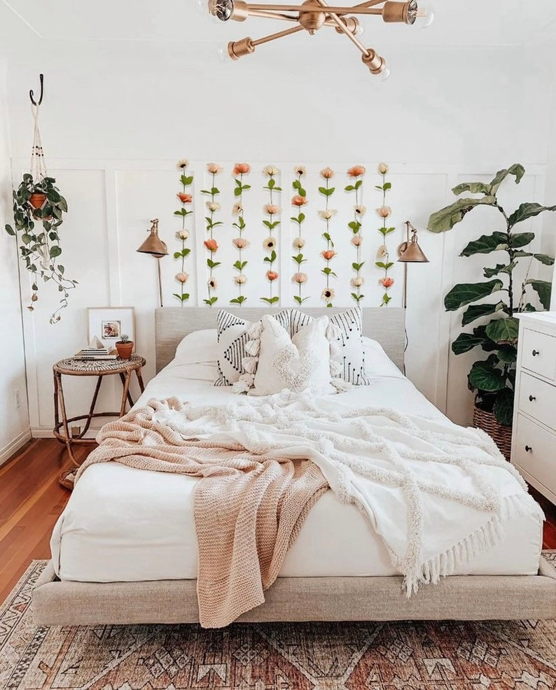 Hanging Fake Flower Wall for Backdrops and Room Decor image 0