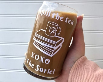 The Suriel _ ACOTAR _ Ice Coffee/Beer Can Glass _ PRE-ORDER