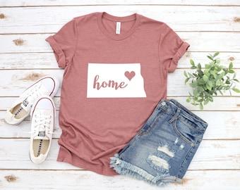 North Dakota Shirt, North Dakota State Shirt, North Dakota Love Shirt, North Dakota Apparel, Home State Shirt, State Shirt, North Dakota Tee