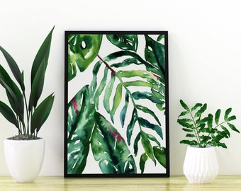 Tropical Palm Leaf Print