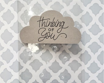 Thinking of You Clear Acetate Card   Sympathy Card