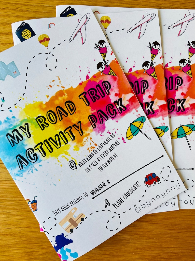 Childrens road trip activity book travel activities travel image 0