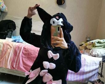 Kuro Coat-Dress pastelgoth lolita kawaii
