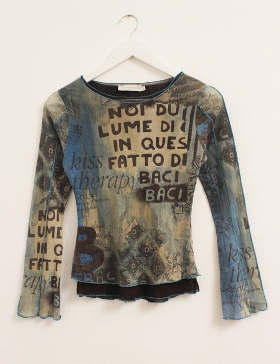 vintage like jean paul gaultier mesh top cache cac