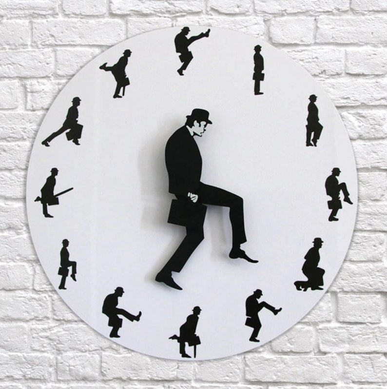 Ministry Of Silly Walk Wall Clock  Comedian Home Decor  Mute image 6