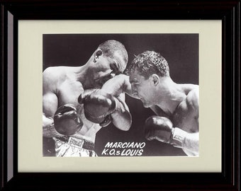 Framed Rocky Marciano Sports Illustrated Autograph Replica Print 8x10 Print