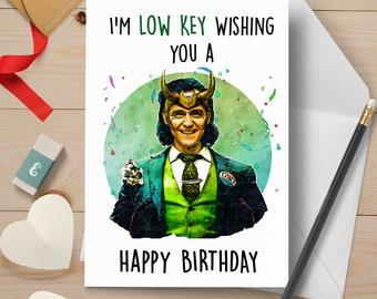 Loki Inspired Birthday Card | Birthday Card | Customizable | Funny Birthday Card | Avengers Marvel Dad