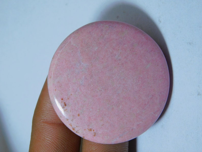 Semi Precious Handcraft Loose Stone For Jewelry Making Top Royal Natural Thulite Cabochon 120Ct 42 X 42 mm #118 Amazing Thulite Gemstone