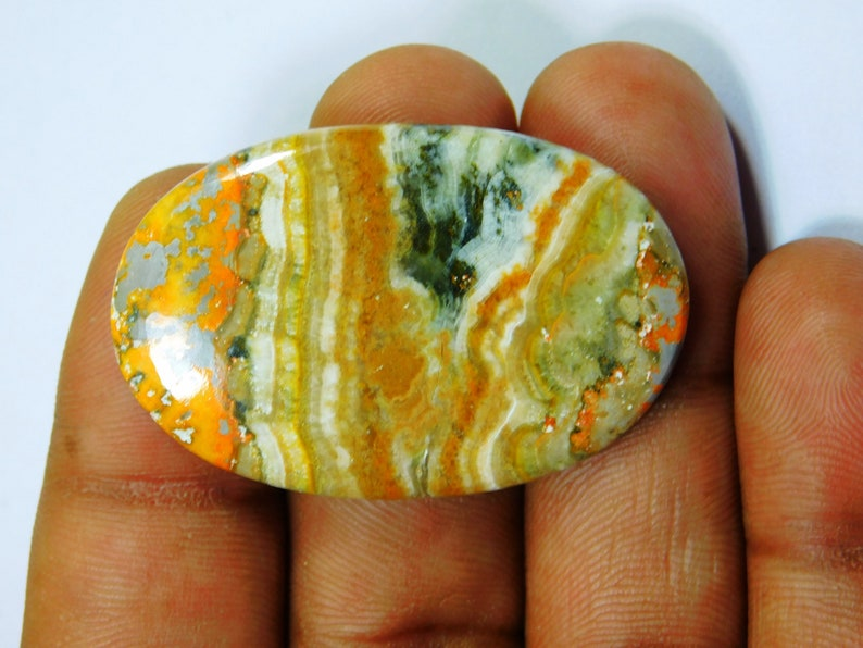 Amazing Bumble Bee Jasper Top Quality Bumble Bee cabochon hand Polish Bumble Bee Gemstone Jewelry making Bumble Bee 44 Ct 41 X 27 mm # 454