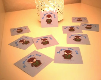 10 Round Otter Paper Stickers The Other Otter Shop   Otter Gift   Letter sticker   Packaging stickers