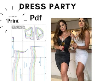 Sewing Pattern PDF : Party Dress, PDF Ready to print. 100% Tested