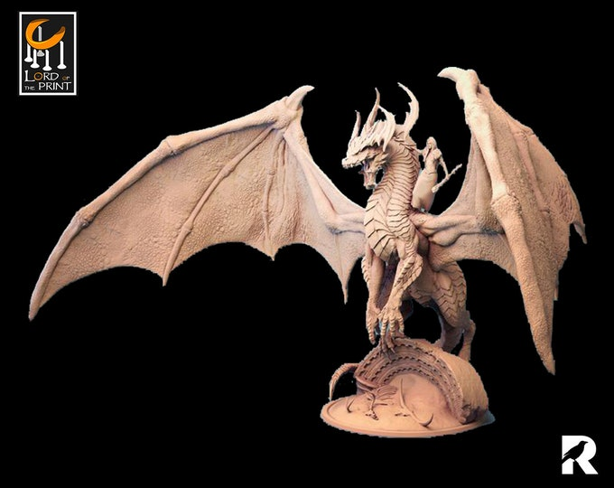 Forest Dragon   Lord of the Print   Legendary Monster   RESIN   Fantasy   DnD   RPG   Tabletop   Gaming   Miniatures