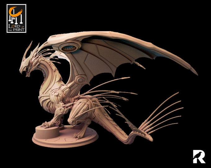 Construct Dragon   Lord of the Print   Legendary Monster   RESIN   Fantasy   DnD   RPG   Tabletop   Gaming   Miniatures