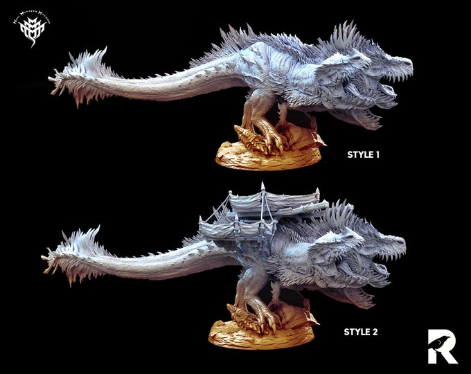 Cerberus   4K RESIN 3D Printed Tabletop Miniature for Role-playing Games and Collector Displays   Mini Monster Mayhem