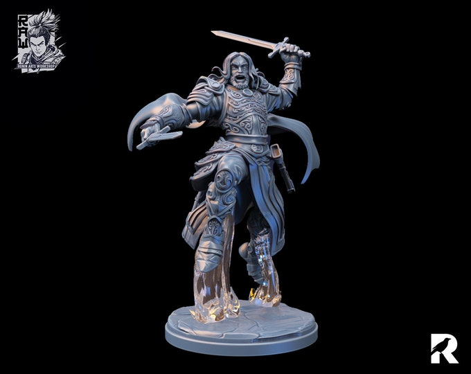 Baldur the Fighter   4K RESIN 3D Printed Tabletop Miniature for Role-playing Games and Collector Displays   Ronin Arts Workshop