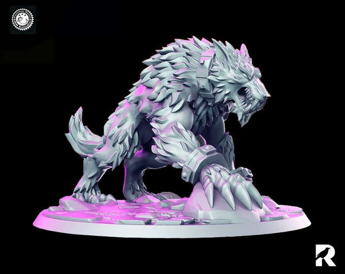 Fangrir Wolf   4K RESIN 3D Printed Tabletop Miniature for Role-playing Games and Collector Displays   RN Estudio