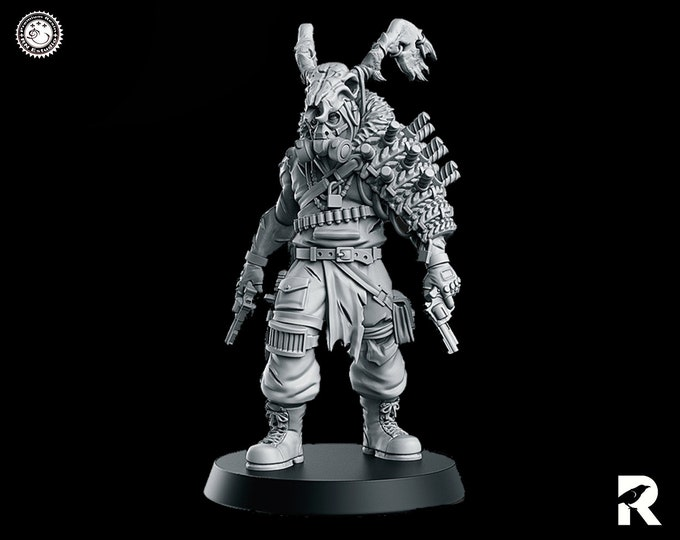 Devil Wheeler Wasteland   4K RESIN 3D Printed Tabletop Miniature for Role-playing Games and Collector Displays   RN Estudio