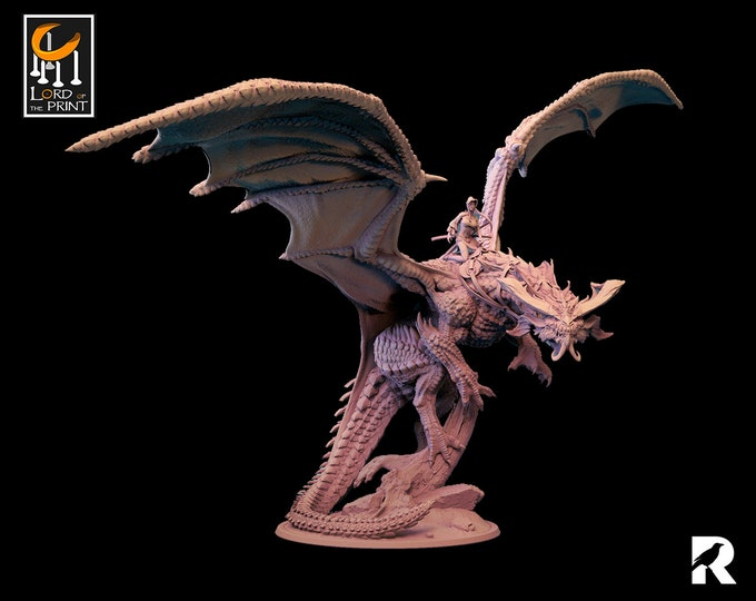 Flying Dragon | Lord of the Print | Japan | RESIN | Fantasy | DnD | RPG | Tabletop | Gaming | Miniatures