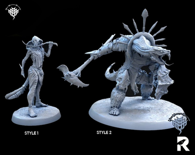 Yuan Ti Paladin Rogue | 4K RESIN 3D Printed Tabletop Miniature for Role-playing Games and Collector Displays | Mini Monster Mayhem