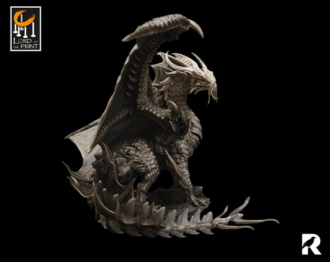 Gold Dragon | Lord of the Print | Japan | RESIN | Fantasy | DnD | RPG | Tabletop | Gaming | Miniatures