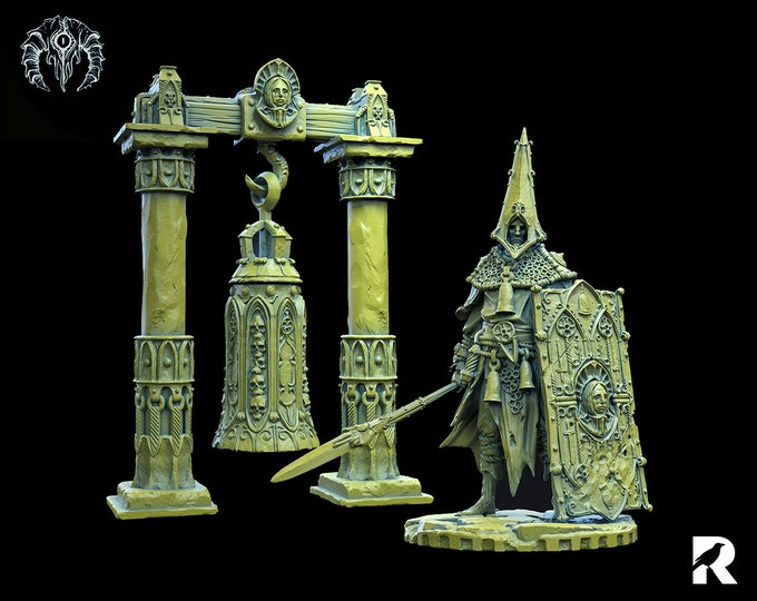 Bell Knight | 4K RESIN 3D Printed Tabletop Miniature for Role-playing Games and Collector Displays | Bestiarum Miniatures