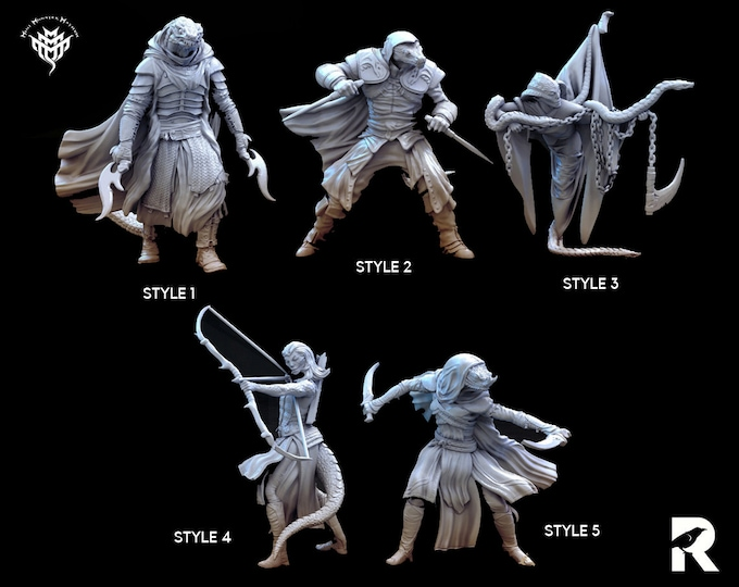 Serpent Characters | 4K RESIN 3D Printed Tabletop Miniature for Role-playing Games and Collector Displays | Mini Monster Mayhem