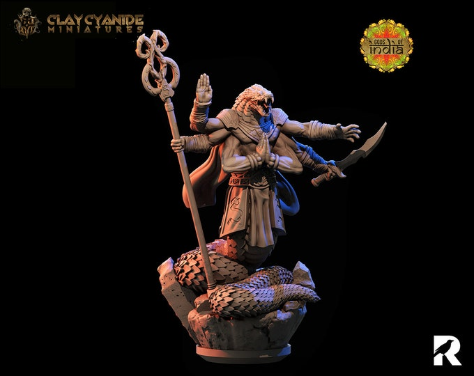 Naga Warrior | Clay Cyanide Miniatures | Gods of India | RESIN | Fantasy | DnD | RPG | Tabletop | Gaming | Miniatures