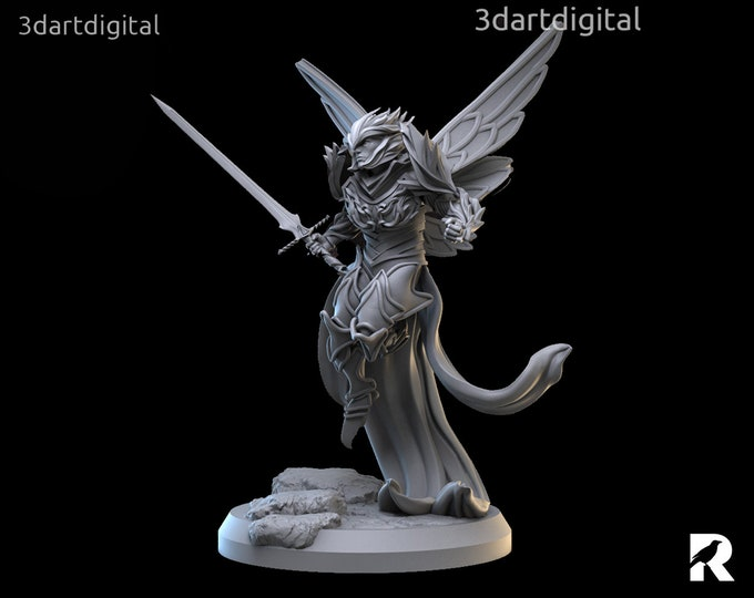 Faerie Warrior Male | 4K RESIN 3D Printed Tabletop Miniature for Role-playing Games and Collector Displays | 3dartdigital