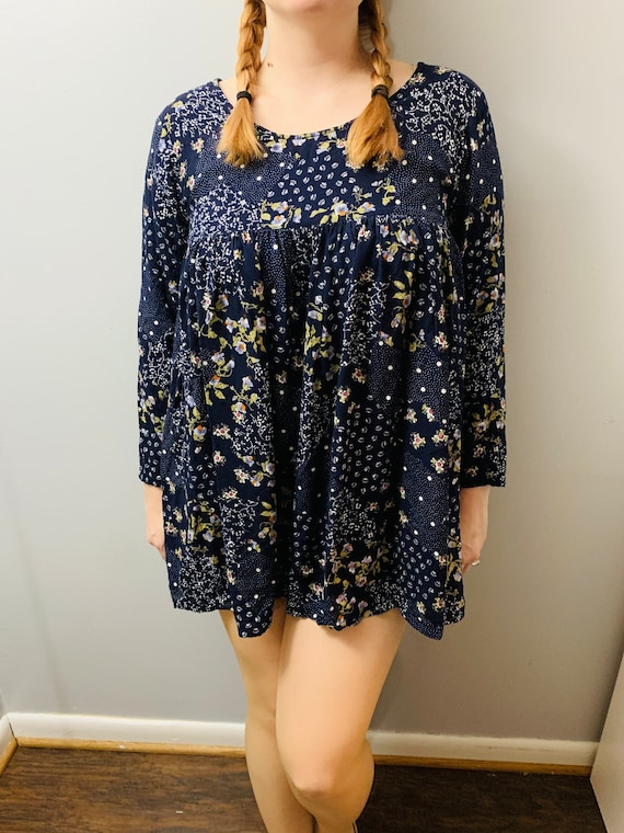 90s Floral Babydoll Dress