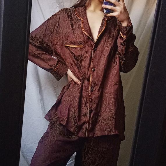 Vintage 80s Victoria's Secret Victorian Pajama Set