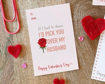 Rose Husband - Nanny Valentine's Day card printable