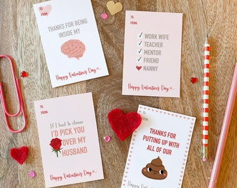 Husband bundle - Nanny Valentine's Day card printable
