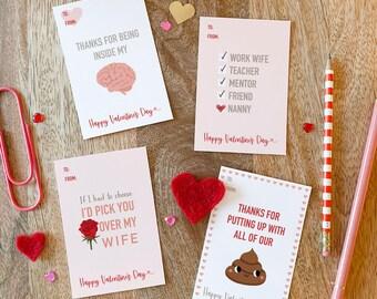 Wife bundle - Nanny Valentine's Day card printable