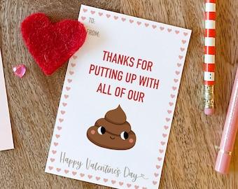 Sh*t - Nanny Valentine's Day card printable