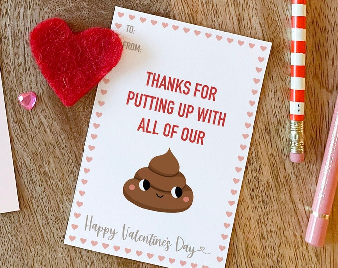 Featured listing image: Sh*t - Nanny Valentine's Day card printable