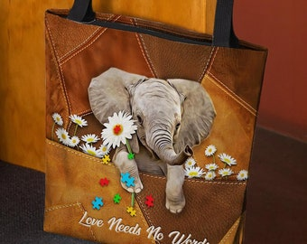 Gift for Her Cute Floral Elephant  Purse Travel Pouch Women/'s or Girl/'s Holiday Purse