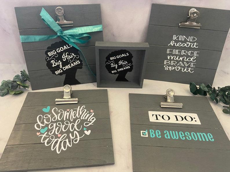 goals keeper to do list teen motivational decor motivational decor Mini Clipboard