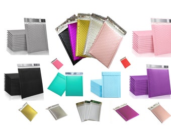 6''x9'' Colors Poly Bubble Mailers, Colors Padded Shipping Mailing Envelopes